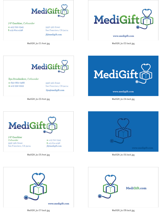 Medigift business cards